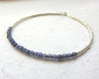 Virgo Birthday Bracelet, Virgo Birthday, September Gemstone, September Birthday, Water Sapphire Bracelet, Blue Gemstone, Virgo Gemstone