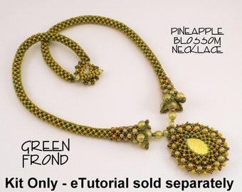 KIT ONLY Pineapple Blossom Necklace in Green Frond Color