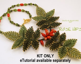 KIT ONLY for Rose Hips Beaded Necklace