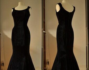 Classic Ophelia Velvet mermaid gown