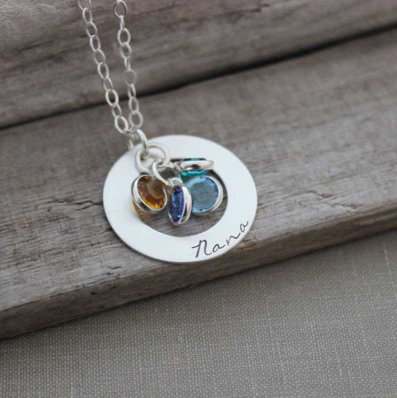 Sterling Silver personalized Necklace  Hand Stamped  image 0