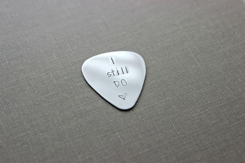 I still DO guitar pick  Stainless steel  gift for him  image 0