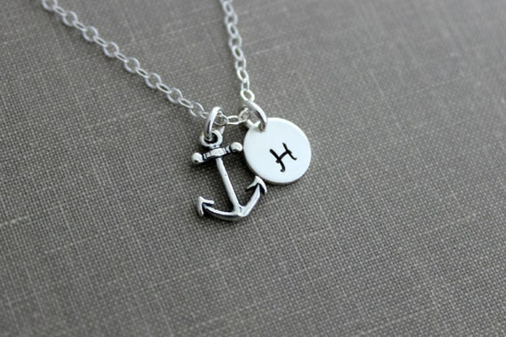 Sterling Silver Gold-Tone Anchor Brushed Pendant