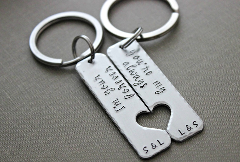 I'm your forever you're my always  keychain set  image 0