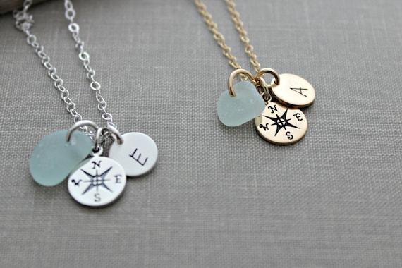 glass tile necklace silver gear necklace for him traveller bag deco SALE Antique silver compass print navigation tool bronze keychain
