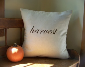 free shipping - harvest pillow / thanksgiving pillow / fall home decor / autumn / espresso / fall pillow / thankful /