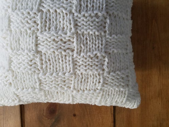 Free Shipping Basket Weave Knit Pillow Knitted Cozy Warm Etsy