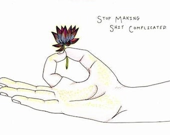 "Uncomplicated Mudra Unmatted 8x10"" Print, yoga art, yoga decor, lotus flower, yoga pants, yoga mat"