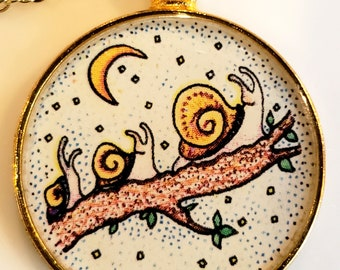 Snail Family Pendant and Chain