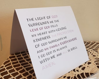 4 Pack of Cards - 5.5x5.5, square - Bedtime Prayer