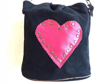 The Jumbo Bucket Bag-Studded Leather Shoulder Bag