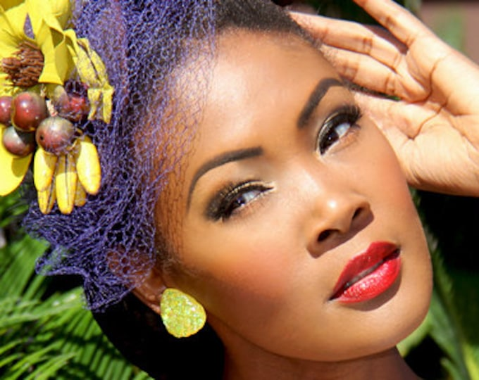 Confetti Lucite Whool Sunshine - Earrings - Confetti Lucite - Glitter Earrings - Retro Jewelry - 50's Earrings - Lucite - Glitter Paradise®