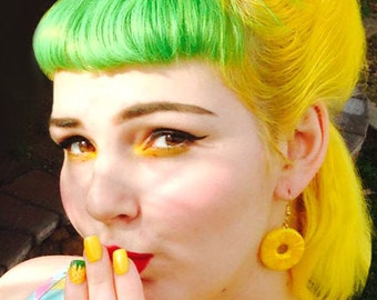 Pineapple Slices - Earrings - Pineapple - Pineapple Hoops - Tropical Jewelry - Fruit - Piña colada - Pineapple Earrings - Glitter Paradise®
