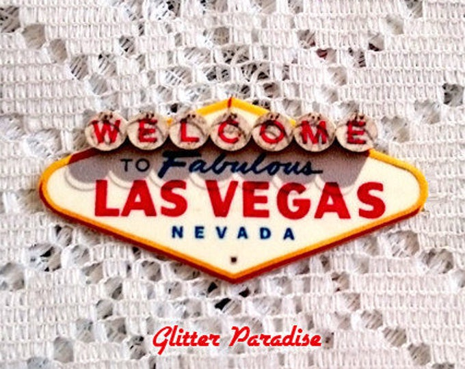 Vegas Billboard - Brooch - Viva Las Vegas - VLV - Fabulous Las Vegas - Nevada - Sin City - Rock'n'Roll - Pinup - Retro - Glitter Paradise®