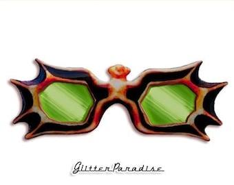 Vampira's Shades - Pin - Maila Nurmi Sunglasses - Vampira - Vampire - Gothic - Glamour Ghoul - Retro - Vampira Glasses - Glitter Paradise®