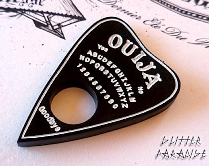 Ouija Planchette - Brooch - Ouija - Spiritualism - Medium - Psychic - Paranormal - Occult - Calling Spirit - Ghost - Glitter Paradise®