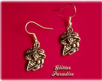 La Catrina - Earrings - Dia de Los Muertos - Calavera - Day of The Dead - Muerta - Sugar Skull - Mexican Folk - Frida - Glitter Paradise®