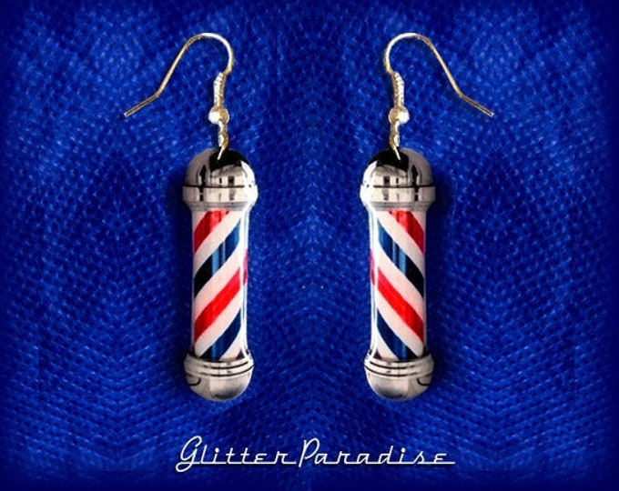 Barber's Pôles - Earrings - Barber Pôle Pin - Barber Accessories - Haircut - Greaser - Barber - Haircut - Retro Barber - Glitter Paradise®