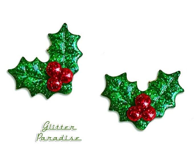 Christmas Glitter Holly