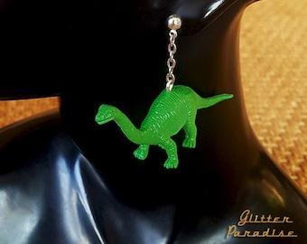 Dino Diplo - Earrings - Dinosaur - Diplodocid Sauropod Dinosaur - Dinosaur Jewelry - Jurassic Period - Diplodocus Longus - Glitter Paradise®