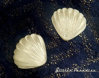 Mother Of Shell - Earrings - Mermaid Jewelry - White Seashell - Mother of Pearl Seashell - Ocean Jewelry - Mermaid Life - Glitter Paradise®
