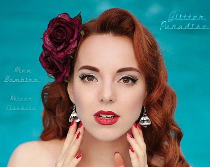 Princess Diamonds - Earrings - Dangle Diamonds - Princess Prom Jewels - Retro Glam Jewelries - Faux Diamond Jewel - 50s - Glitter Paradise®