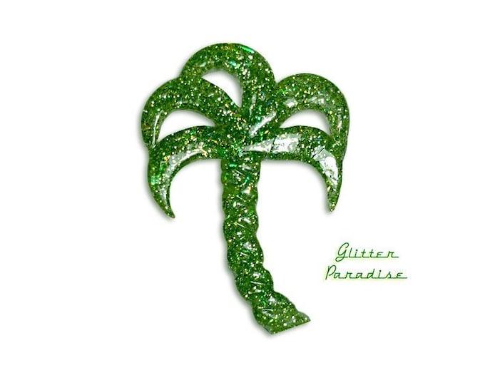 Lucite Palm Tree - Brooch - Vintage Replica - Retro - Palm Tree - Miami - Confetti Lucite - Mid Century Modern - Retro - Glitter Paradise®