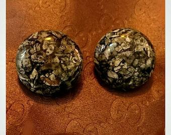 Original Vintage 1950's Rocks Dômes - Earrings - Rare Vintage Earrings - 1950s Earrings - 1960s Earrings - Retro - Pinup - Glitter Paradise®