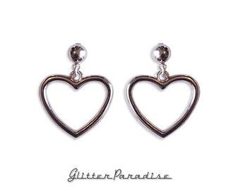 Retro Heart - Earrings - Retro Hearts - Hearts - Valentine - Love - I Love U - Romantic - Heart Jewelry - Amour - Glitter Paradise®