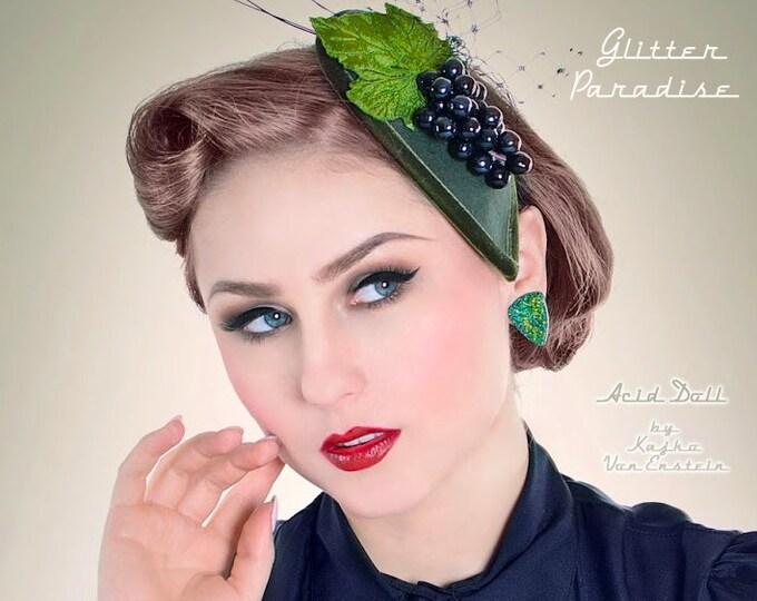 Confetti Lucite Triangle Mint & Gold - Earrings - Glitter Triangle - Mid-Century Modern - 50s - Retro Jewelry - Retro - Glitter Paradise®
