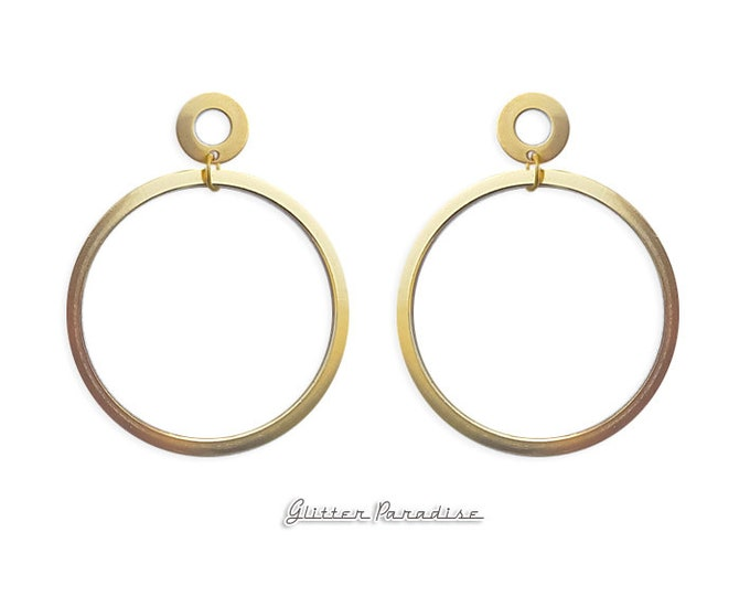 Double Trouble Hoops - Earrings - Hoops & Domes - Barbie Hoops - Pinup Hoops - Hoops Earrings - Gold Hoops - Retro Hoops - Glitter Paradise®