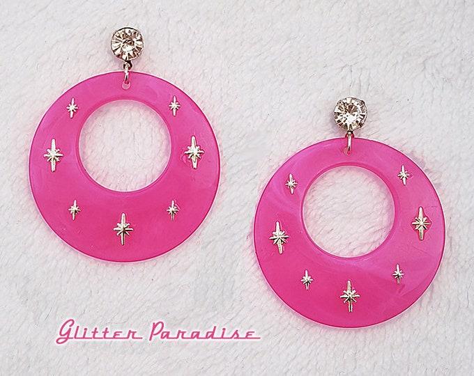 Atomic Hoops Candy - Earrings - Retro Hoops & Domes - Candy Hoops - Pinup Hoops - Hoops Earrings - Sweet Retro Hoops - Glitter Paradise®