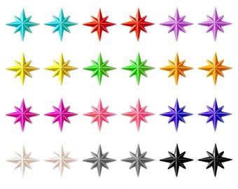 Starlite - Earrings - Starlite Earrings - Starburst Earrings - Retro Star - Motel Star - 50's - Mid-Century Modern - Glitter Paradise®