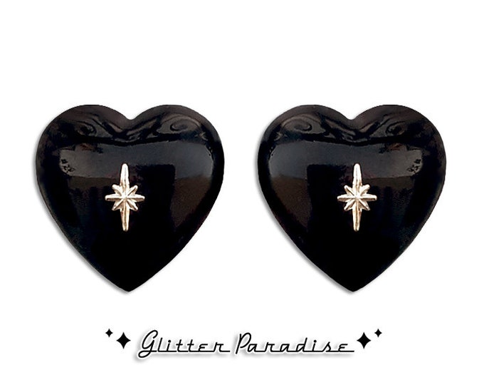 Atomic Heart - Earrings - Heart Earrings - Retro Hearts - Mid-Century Modern Jewelry - Valentine's Gift - True Love - Glitter Paradise®
