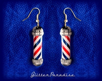 Barber's Pôles - Earrings - Barber Pôle Pin - Barber Accessories - Haircut - Greaser - Barber - Haircut - Retro Barber - Glitter Paradise®