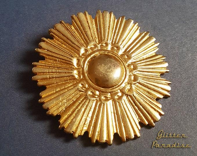 Original Vintage Modern Sunrays - Brooch - Star Brooch - Sun Brooch - 1950 - Sunburst Mirror - Starburst - Celestial - Glitter Paradise®