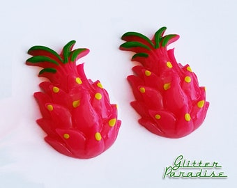 Dragon Fruit - Earrings - Pitahaya Earrings - Vintage Exotica - Tutti Frutti - Tropical Fruit - Dragon Fruit Jewelry - Glitter Paradise®