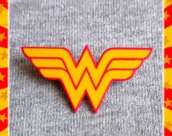 Wonder Woman Insignia - Brooch - DC Comics - WW - Feminist - Diana Prince - Amazonian - Girl Power - Justice League - Glitter Paradise®