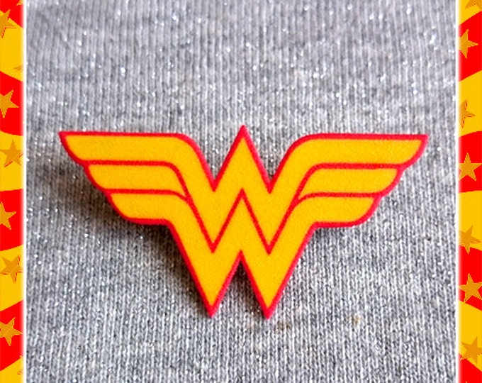 Wonder Woman Insignia - Brooch - DC Comics - WW - Feminist - Diana Prince - Amazonian - Girl Power - Justice League - Glitter Paradise®