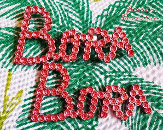 Original Vintage Bora Bora Sign - Brooch - Tropical Bora Bora Brooch - Vintage Bora Bora Sign - Tropical Island Dream - Glitter Paradise®