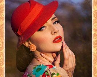 Vintage Rose Coral - Earrings - Roses - Flowers - Nature - Rose Earrings - Retro - Roses Earrings - Romantic - Floral - Glitter Paradise®