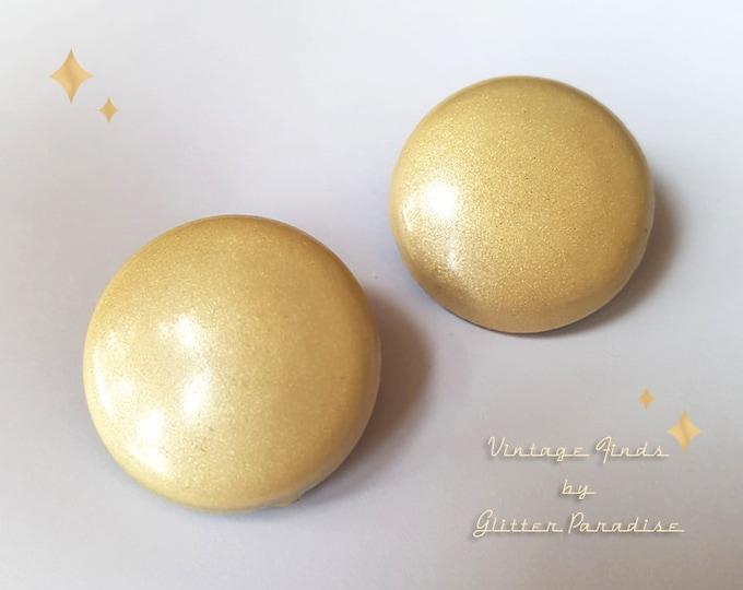 Original Vintage 1950's Dômes Nacre - Earrings - Mother of Pearl - Vintage Finds - 1950's Dômes Earrings - Retro Jewelry - Glitter Paradise®