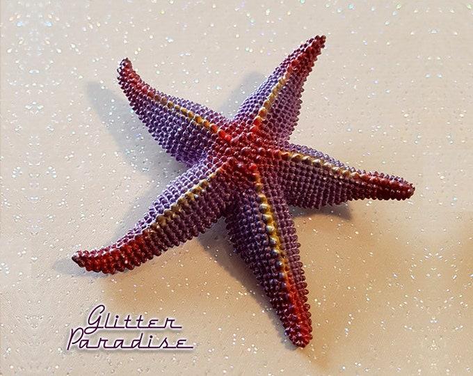 Starfish - Brooch - Sealife Ornament - Mermaid Jewelry - Starfish Jewelry - Retro Beach Jewelry - Starfish Brooch - Glitter Paradise®