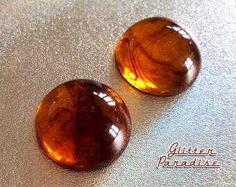Fakelite Dômes Tortoise Shell - Earrings - Turtle Shell - Fakelite Earrings - Tortoise Shell Jewelry - Vintage Inspired - Glitter Paradise®