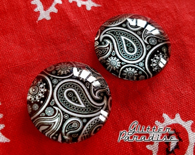 Chingona Dômes - Earrings - Dômes - Paisley - Paisley Earrings - Latina Earrings -  Latina Jewelry - Paisley Jewelry - Glitter Paradise®