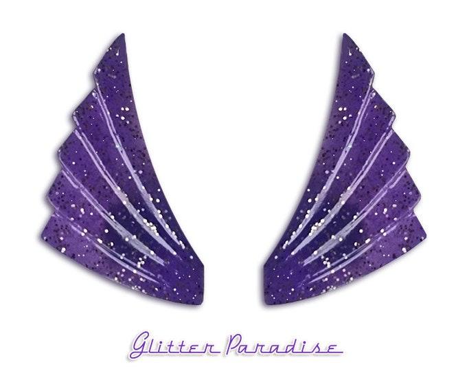 Art-Deco Wings - Earrings - Glitter Jewelry - Wings Earrings - Retro Earrings - Mid-Century Modern - Art-Deco Jewelry - Glitter Paradise®