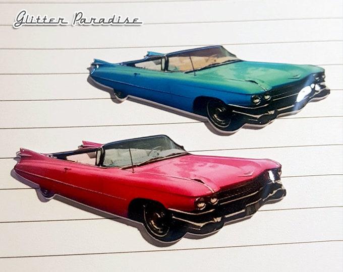 59 Cadillac Convertible - Brooch - 1959 Cadillac Series 62 Convertible  - Vintage Cadillac - Retro Car - 50s Classic Car - Glitter Paradise®