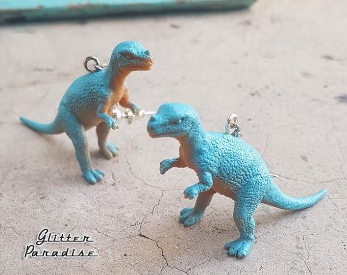 Dino Cerat - Earrings -  Ceratosaurus - Dinosaur Jewelry - Mid-Jurassic Period - Carnivorous Theropod Dinosaur  - Dino - Glitter Paradise®