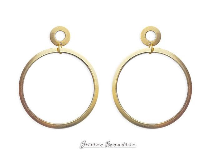 Double Trouble Hoops - Earrings - Hoops & Domes - Barbie Hoops - Pinup Hoops - Hoops Earrings - Gold Hoops - Retro Hoops - Glitter Paradise®