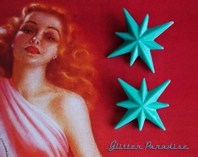 Starlite Medium - Starlite Earrings - Starburst Earrings - Retro Star - Stars - Motel Star - 50's - Mid-Century Modern - Glitter Paradise®